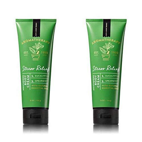 (Bath & Body Works Aromatherapy Stress Relief Eucalyptus Spearmint Body Cream 8.0 oz, 226g (2 Pack))