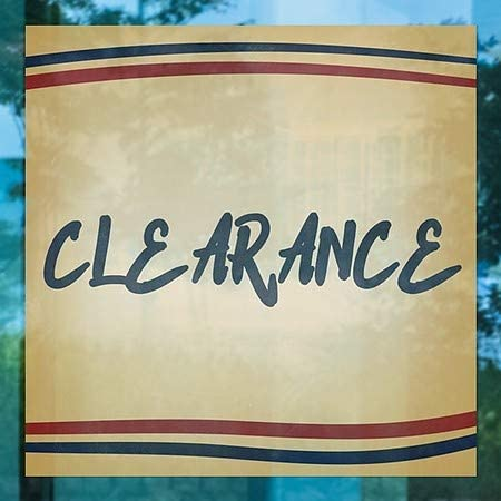 CGSignLab 24x24 Nostalgia Stripes Window Cling Clearance 5-Pack