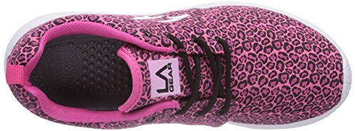 LA Gear Sunrise, Baskets mode femme Rose - Pink (Pink Leopard 01)