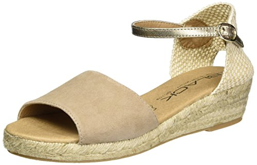 Black 282 192, Women's Open Toe Sandals Brown (Taupe)