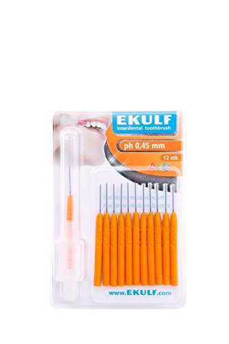 ekulf – Cepillo de dientes interdental 0.45 mm 12 de