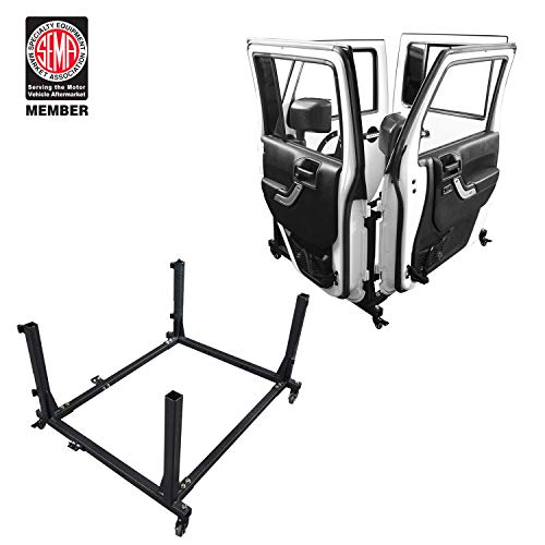 u-Box Door Storage Sliding Rack Movable Cart Rock Crawler for 2007-2019 Jeep Wrangler JK JL Unlimited 4-Door ()