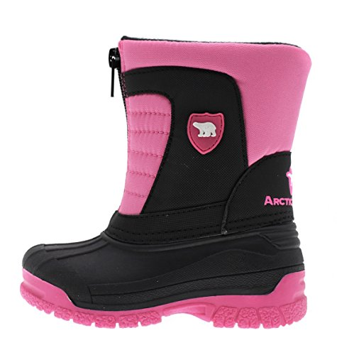 Image of the Arctic Shield Kids Warm Comfortable Insulated Waterproof Durable Hassle-Free Zipper Outdoor Winter Snow Boots (Toddler/Little Kid/Big Kid) (6 M US Toddler, Pink)
