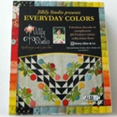 Aurifil Thread Set EVERYDAY COLORS by Jill Finley 50wt Cotton 10 Small Spools 220yd each by Aurifil