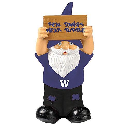 Elite Fan Shop Washington Huskies Garden Gnome - (University Of Washington Huskies)