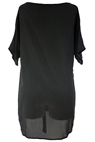 Nuova nero da donna con scollo a V larghe cravatta Caftano Beachwear cover Up estate Caftano taglia S UK 10–12EU 38–40