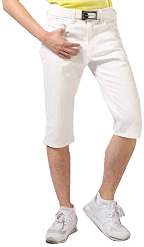 【NewEdition GOLF】 『白ストライプ柄?白チェック柄?カモフラージュ柄全4色』 ストレッチ メンズ ゴルフ ハーフパンツ小さいサイズ~大きい7サイズ NEG-022