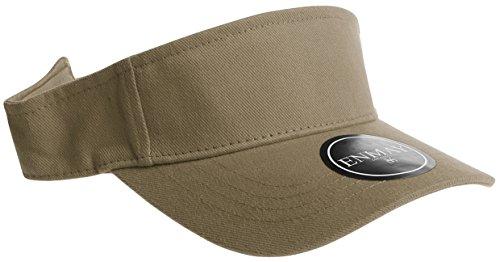 (Enimay Sports Tennis Golf Sun Hook Loop Closure Hats Adjustable Velcro Plain Bright Colors Khaki …)
