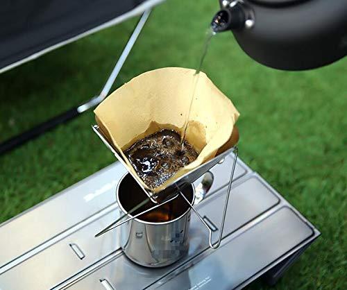 16,5x15cm Edelstahl Outdoor Camping Falten Tragbare Tee Kaffee Tropfgestell Kaffeemaschine Hand Punch Reise Edelstahl Kaffeefilter St/änder