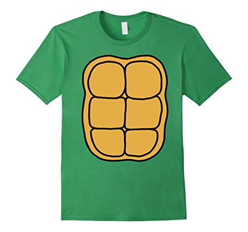 Mens Turtle Shell Shirt KIDS DIY Halloween Costume FRONT + BACK Medium Grass