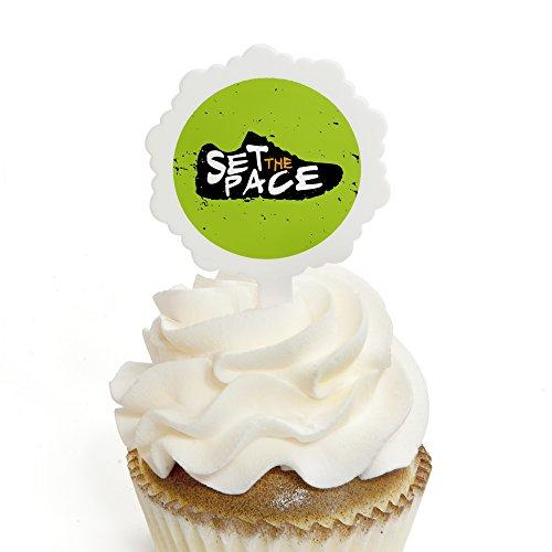 Big Dot of Happiness Set The Pace - Running - Cupcake Picks