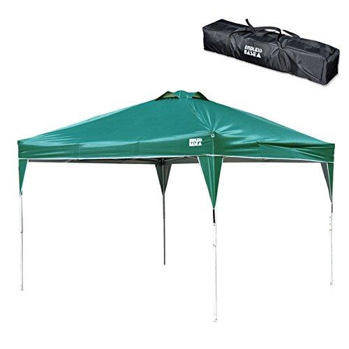 옷장의 겐 ENDLESS BASE 3m 원터치 타프 텐트 방수 가공 UV 컷 통풍구가있는 3 단계 높이 조절 야외 캠핑 용품 (팩, 로프 포함, 전용 수납 케이스 포함) 36200002