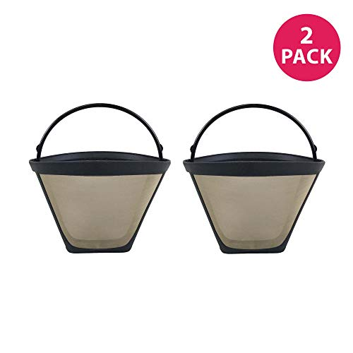 Crucial Coffee Replacement Filter Compatible Cuisinart # 4 Cone Coffee Part # GTF-4, Fits Cuisinart 4-Cup DCC-450 Coffee Maker Systems Model - Bulk (2 Pack)