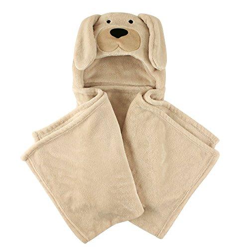 Brown Plush Dog (Hudson Baby Plush Hooded Blanket, Light Brown)