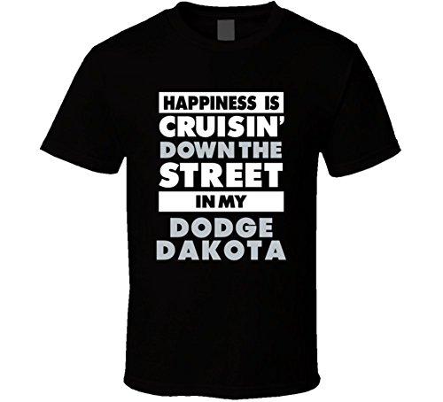 happiness-is-cruisin-down-the-street-in-my-dodge-dakota-car-t-shirt