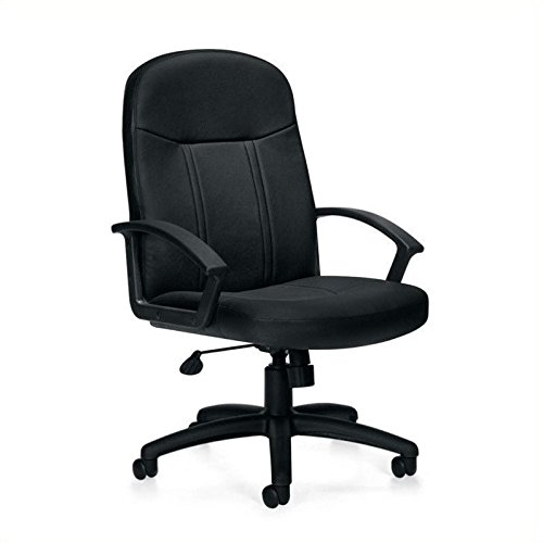 Offices to Go Luxhide Manager's Chair in Black