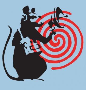 Banksy Tshirts PP - Radarratte Banksy Kinder T-Shirt 12 Jahr Hellblau