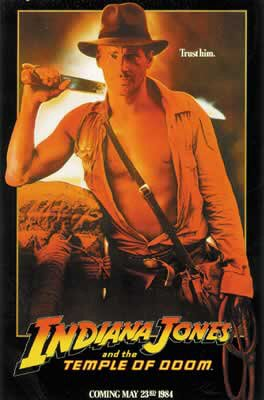 Indiana Jones And The Temple Of Doom - Movie Poster: Advance (Size: 27'' x 40'')