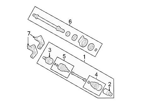 Amazon Com Ford 5l8z 3a329 B Cv Intermediate Shaft Automotive