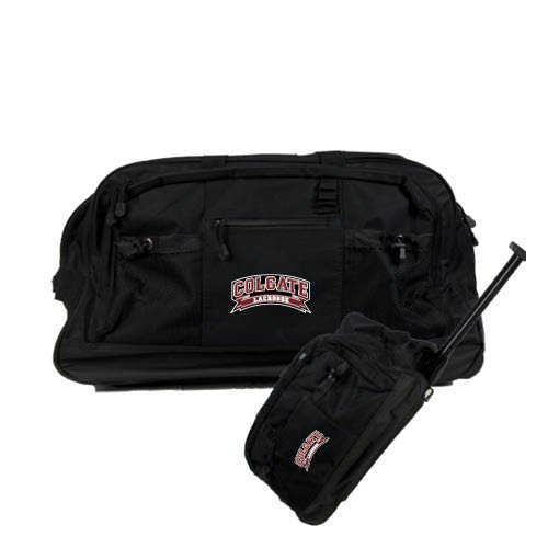 Colgate Urban Passage Wheeled Black Duffel 'Lacrosse' by CollegeFanGear