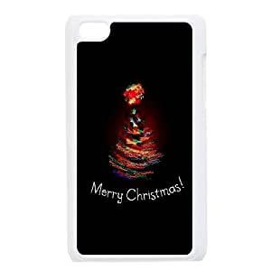 Merry Christmas iPod Touch 4 Case White Exquisite gift (SA_648854)
