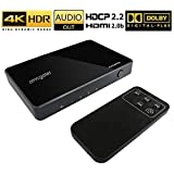 Omnigates HDMI Switch 4K 60HZ, HDMI Switcher 4 Port with HDMI Audio Extractor Converter,Remote HDMI Switch Splitter Support HDCP 2.2 HDR Ultra HD 4K 1080P 3D,Switch Box 4x1 for Xbox PS4 Fire Stick ect