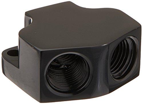 Russell 650400 Black Billet Aluminum Fuel Y-Block