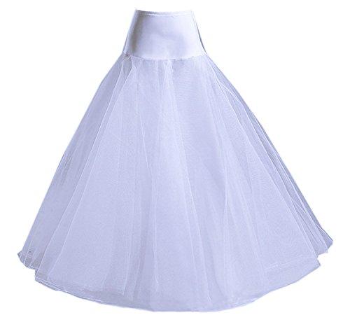 A-line Bridal Wedding Gown Crinoline (RohmBridal Women's A-line Petticoats Wedding Dress Ball Gown Underskirt Crinoline Slips)