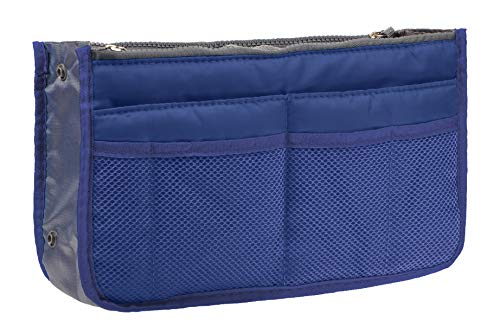 Vercord Purse Organizer Insert Travel Handbag Organizer Bag in Bag 13 Pockets Royal Blue Medium