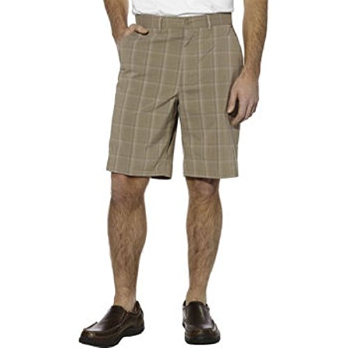 - Kirkland SignatureTM Mens Performance Short-Khaki Plaid, 38