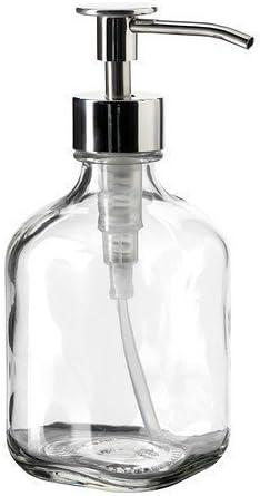 Ikea dispensador de jabón Besta de Vidrio y Acero Inoxidable ...