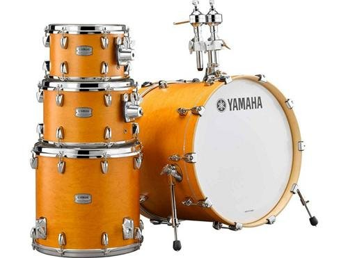 Yamaha Tour Custom Maple 4pc Standard Shell Pack, Caramel Satin (Caramel Drum)