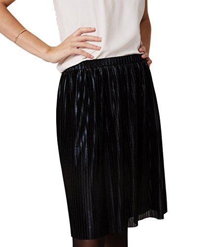 Ann Taylor Loft - Women's - Shimmery Pleated Pull-On Skirt (X-Small, Black) - Ann Taylor Light