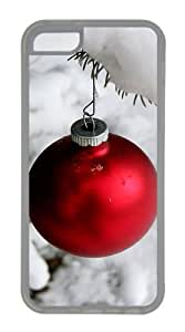 Customized Case Snow and Christmas ball Transparent for Apple iPhone 5C