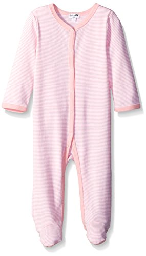 Splendid Long Sleeve Footed Coverall, Light Pink, 6-9 Months (Long Sleeve Footed Coverall)