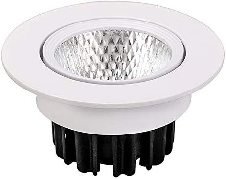 CYZMONI COB Spotlight Downlight Recessed Ceiling Lamp Supermarket Shopping Mall Hotel Living Room Hole Lamp LED Downlight Engineering Lamp Flat Panel Light (Color : Warm light 3000k Size : 5W)