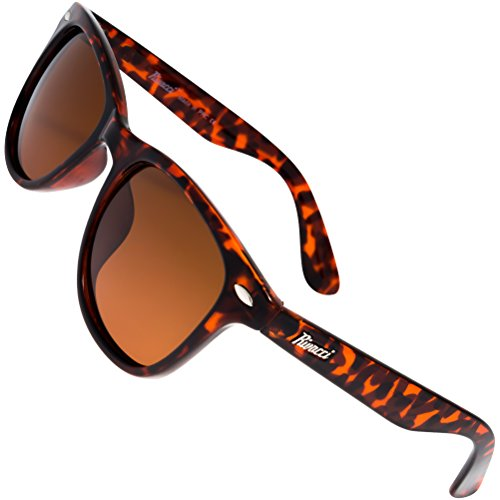 Rivacci Men Women Wayfarer Tortoise Frame / Brown Lens Classic Retro Polarized - Sale Buy Ray On Where To Bans