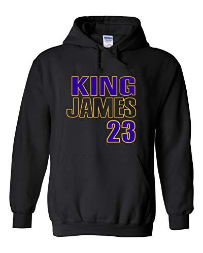 Black Los Angeles King James Hooded Sweatshirt Adult