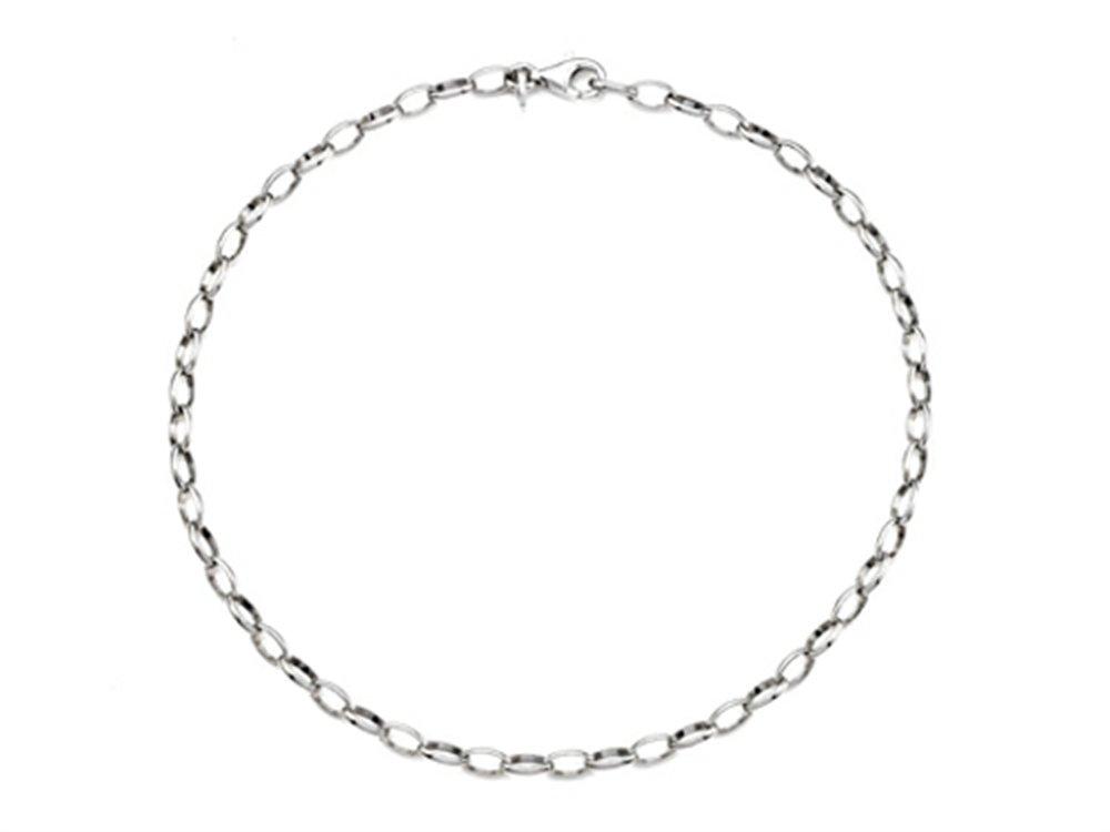 Finejewelers Sterling Silver 10 Inches Adjustable Ankle Bracelet