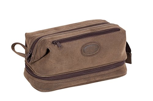 (Montana for Him by Danielle Creations Triple Pocket Travel Toiletry Bag, Deep Brown)