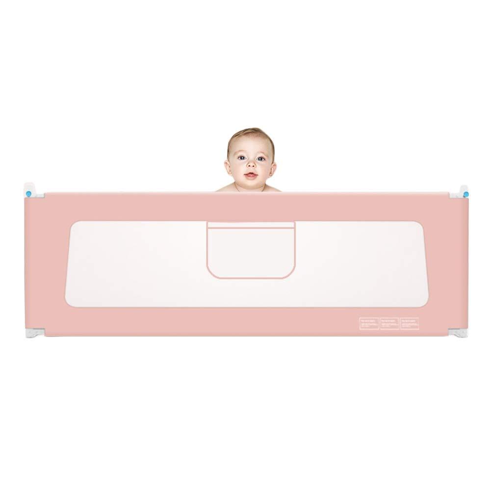 LIQICAI 幼児用ベッドレール子供用ベッド セーフスリープガード 垂直リフト ベッドサイドレールガード、 ベイビーアンチフォールス、 5サイズ、 3色 (Color : Pink, Size : 180cm) 180cm Pink B07TQLRB4K