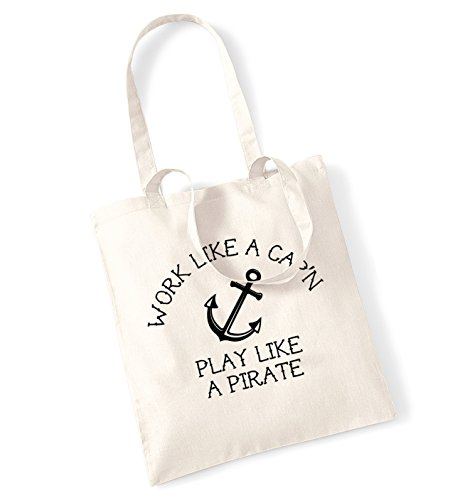 Natural play tote pirate Cap'n like a like bag a Work q0wFTtznx