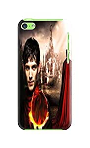 durable Hard TPU phone Case Cover Skin with fashionable New Style Merlin photo For iphone 5c