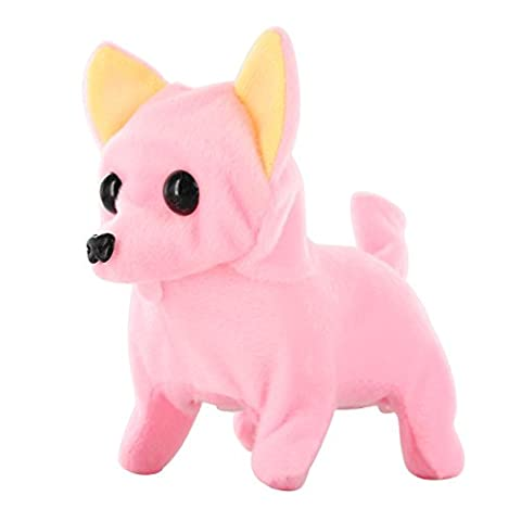 Kid's Barking Walking Wagging Chihuahua Puppy Dog Pat Toy Pink (Turn Concrete Into Gold)