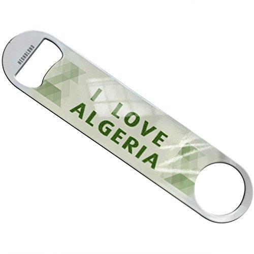 NEONBLOND I Love Algeria Soccer Field Grass Flat Beer Bottle Opener Heavy Duty Bartender by NEONBLOND
