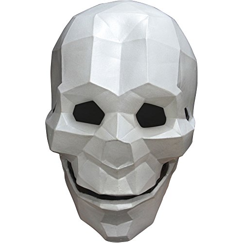 Rubber Face Masks Halloween (Latex Full Face Low-Poly Skull)
