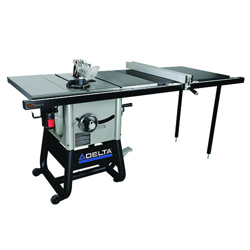 - Delta Power Tools 36-5152 Delta Left Tilt Table Saw with 52-Inch  RH Rip, 10-Inch