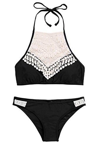 Due Nero Sexy Mare da Bagno Piscina pezzi Costume Bikini Avidlove xAYfzw