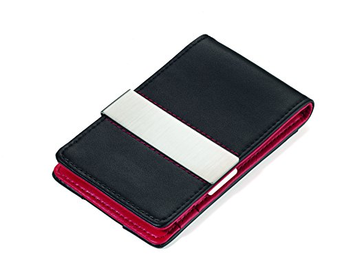 Troika Red and Black Flat Wallet with RIFD Protection (CC...