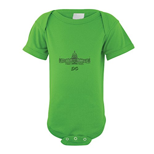 Washington Dc Capital Baby Bodysuit One Piece Apple Green 24 Months